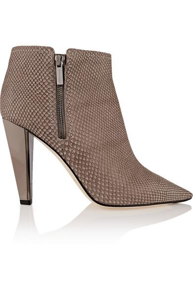 Haydn 仿蛇纹皮革及踝靴