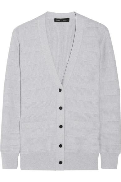 真丝、棉质和羊绒混纺开襟衫