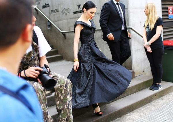 澳大利亚时装周街拍 风格独特异军突起