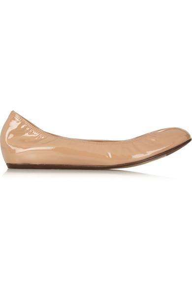 漆皮芭蕾平底鞋