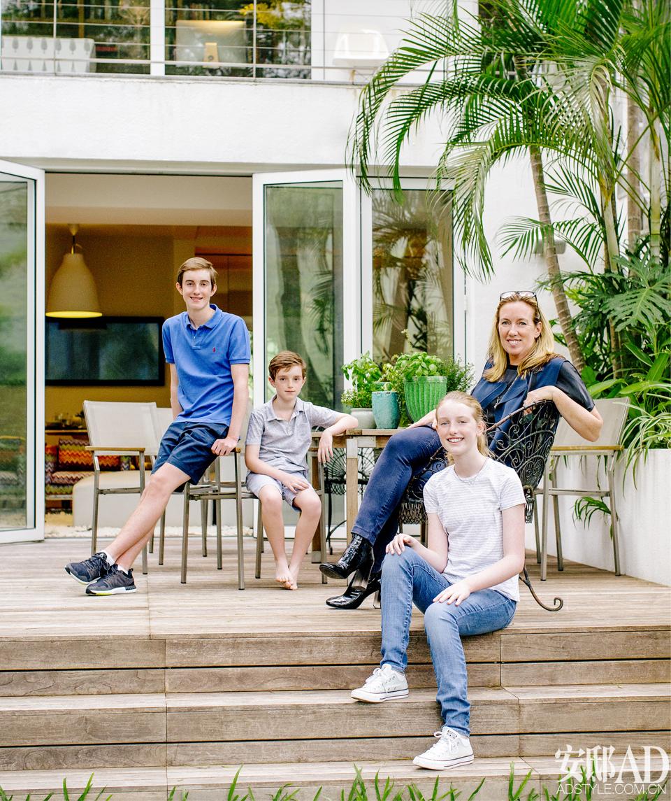 寸土寸金的香港,她给3个孩子设计了3个风格不同的房间