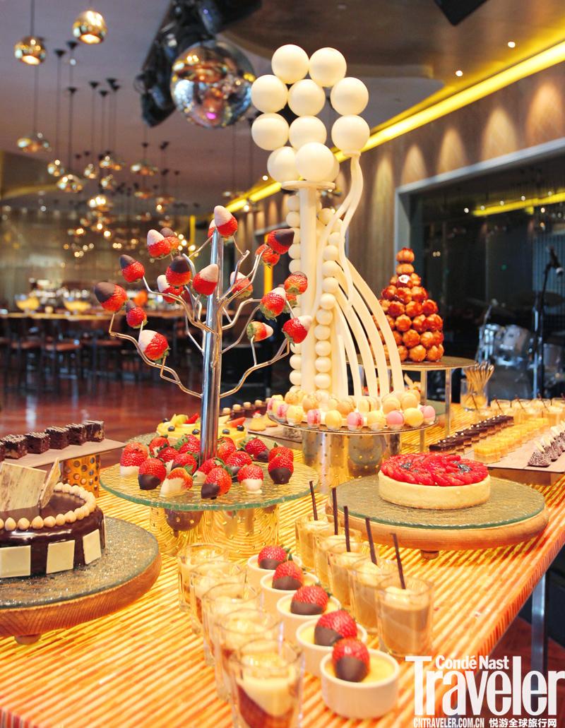 北京嘉里大酒店炫酷酒吧推出新式自助下午茶