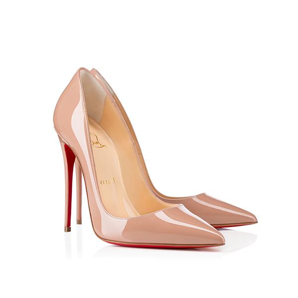fcb70e17218b Christian Louboutin So Kate Nude Color Patent High Heels