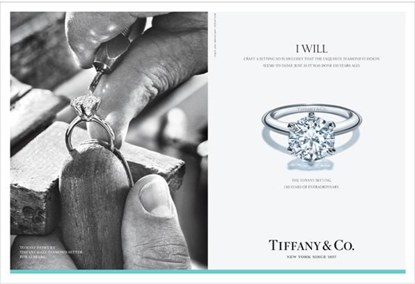 """蒂芙尼庆贺Tiffany® Setting六爪镶嵌钻戒130年璀璨传奇 全新传播创意""""我愿意"""",展现经典钻戒的诞生"""