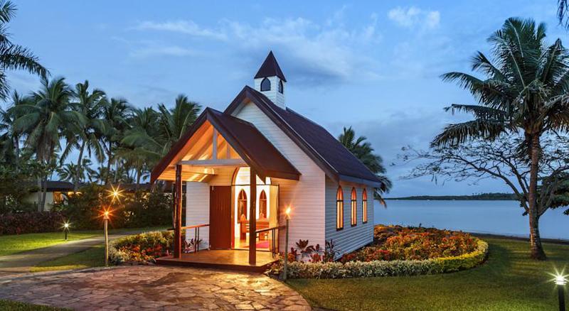 斐济索菲特酒店 海边教堂