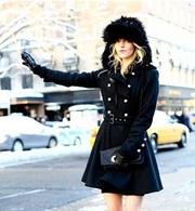 冬日美丽不冻人,明星出街最爱温暖毛绒帽