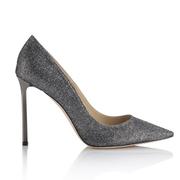 JIMMY CHOO限量版lamé闪光布料高跟鞋ROMY亚洲率先推出