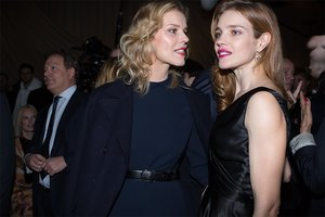 Eva Hertzigova and Natalia Vodianova