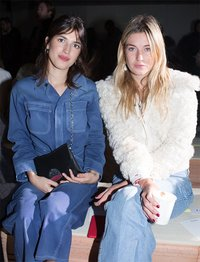 Proenza Schouler front row  Jeanne Damas and Camille Charriere
