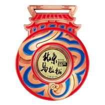 六福珠宝真金奖牌助力北京马拉松35周年