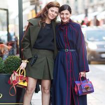 街拍新宠Sara Battaglia特别呈现订制Lady Me手包