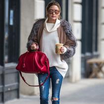 本周女星最佳街拍TOP10 牛仔裤的冬日盛典