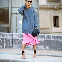 你不需要新毛衣 搭一条裙子就能穿出惊喜-风格示范