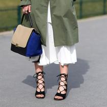 夏日凉鞋那么多,最让人心动的永远是那双系带凉鞋
