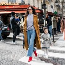 长大衣的时髦造型 从选对鞋子开始-风格示范