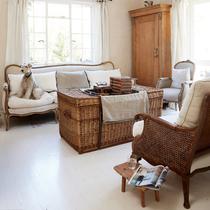 美式简约风 白色与原木的完美结合 -家居