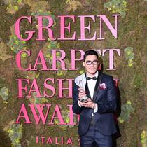 胡兵著環保禮服亮相綠毯盛典 傳遞環保時尚新態度-生活資訊
