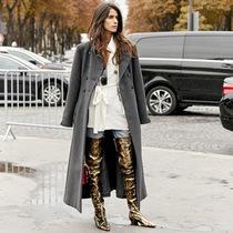 天冷加衣服 穿這件長風衣就夠啦-時尚街拍