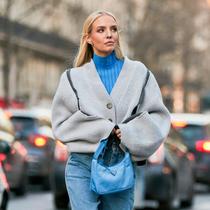 兩件毛衣疊穿,拉風保暖兩不誤-時尚街拍