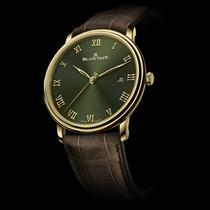 黄金绿盘,复古奢华 宝珀全新推出经典V系列超薄腕表精品店专供款-摩登腕表