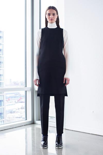 2015秋冬时髦穿法:连衣裙+长裤