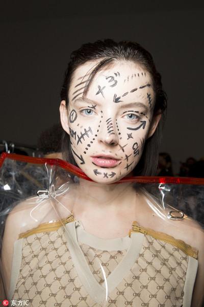 纽约时装周后台妆容探秘