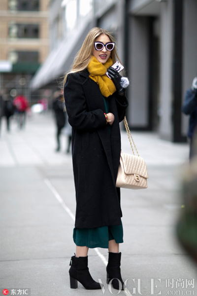 一条围巾 暖心冬日凹造型利器