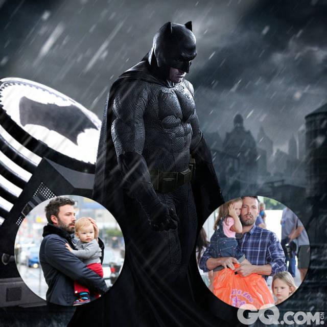 """代表作:《消失的爱人》、《心灵捕手》、《逃离德黑兰》   阿弗莱克顶着重压成为了新一代的""""蝙蝠侠"""",作为一名实力演员和导演,他也是三个孩子的奶爸,常常在照顾孩子的时候""""开小差""""琢磨工作,结果被孩子抱怨:""""老爸,你专心点!""""不过他也坦言有了孩子之后,骑摩托和打篮球这种个人爱好已经搁置一边,有时间就留在家里陪孩子。"""