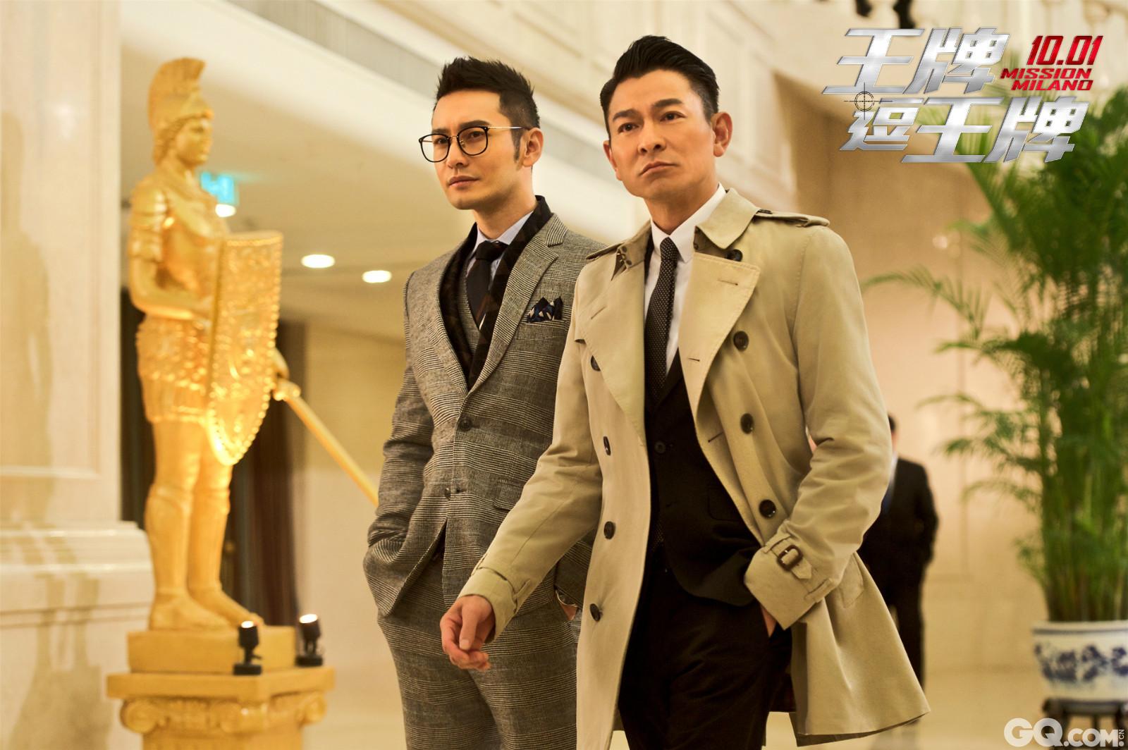 """片中两个人火热PK互不认输,但提到偶像刘德华,王祖蓝瞬间变成了迷弟:""""我自己就很帅了,但华哥更厉害!"""