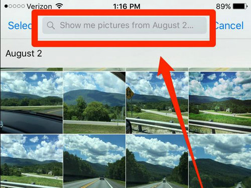 NO.1照片搜索 新的iOS 9中Siri能够帮助你按照时间或者地点对照片进行搜索,方便用户管理照片集,让它们按照特定时间或者地点进行显示。