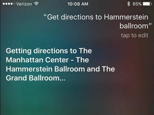 NO.5公交查询 iOS 9新加入了公交信息查询功能,使用时你只需说出想去的地方,Siri就能够自动为你提供最合适的交通出行路线供你选择。