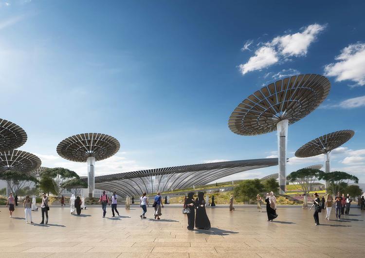 """在刚结束的阿布扎比可持续周(Abu Dhabi Sustainability Week)上,英国的建筑设计事务所 Grimshaw Architects 公布了 2020 年迪拜世博会""""可持续性主题馆(Sustainability Pavilion)""""的效果图。与去年 3 月他们刚赢得设计竞赛时发布的图片相比,这次有了更多的细节。"""