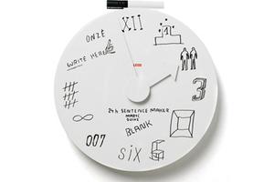 可涂鸦创意挂钟:开始充实的一天!