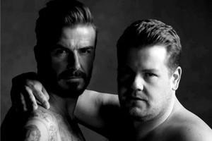 """贝克汉姆、詹姆斯合拍内裤广告 有肌肉更有""""基情"""""""
