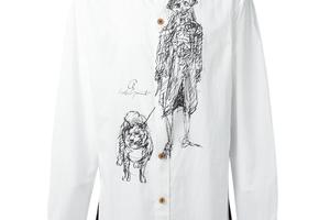 黑白印花衬衫塑造艺术气