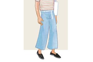 每日穿搭|自带降温效果的阔腿裤