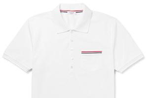 好穿的白色Polo 衫